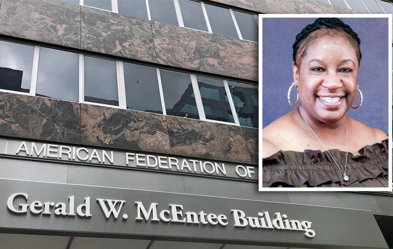 Gerald W. McEntee Building and Katrice Sawyer